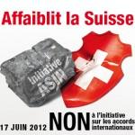 L'initiative de l'ASIN affaiblit la Suisse